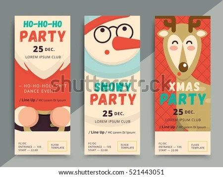 Christmas Party Flyer Template Design Xmas Stock Vector (Royalty