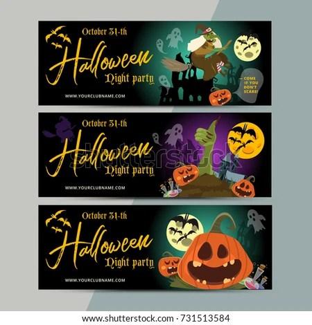 Happy Halloween Party Ticket Template Design Stock Vector 731513584 - party ticket template
