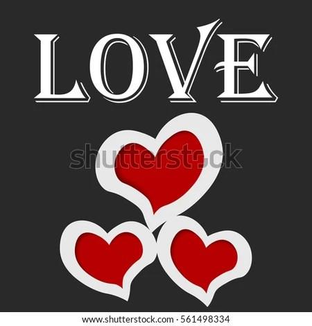 Photo Frames Shape Heart Word Love Stock Vector 561498334 - Shutterstock - word design frames