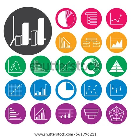 Chart Graph Icon Set Vector Illustration Stock Vector (Royalty Free - chart and graph