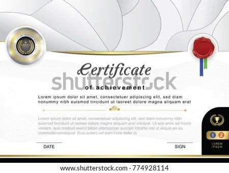 Grey Official Certificate Badge Wafer Vector Stock Vector 774928114