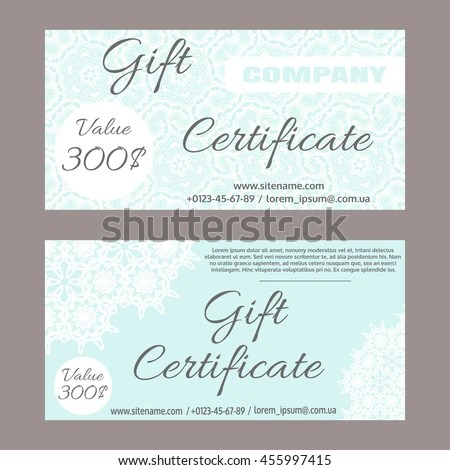 Gift Certificate Template Stock Images, Royalty-Free Images - gift certicate template