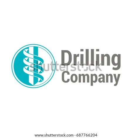 Vector Logo Template Drilling Company Rotating Stock Vector (2018 - drill template
