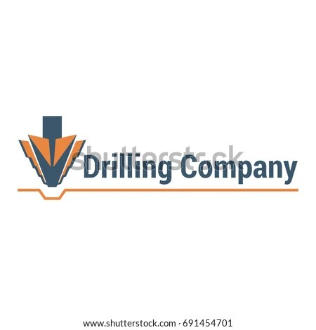Vector Logo Template Drilling Company Illustration Stock Vector - drill template