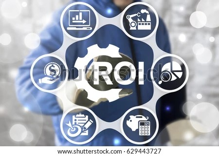 ROI Return On Investment Analysis Finance Stock Photo (Download Now - investment analysis