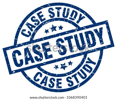 Case Study Blue Round Grunge Stamp Stock Vector 1068390401