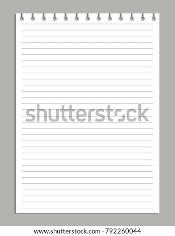 Illustration Blank Sheet Square Lined Paper Stock Vector HD (Royalty - lined blank paper