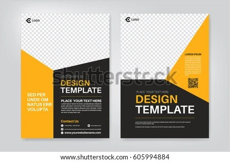 Vector Layout Design Template Leaflet Poster Stock Vector 605994884 - pamphlet layout template