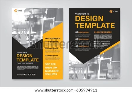 Vector Layout Design Template Leaflet Poster Stock Vector 605994911 - pamphlet layout template