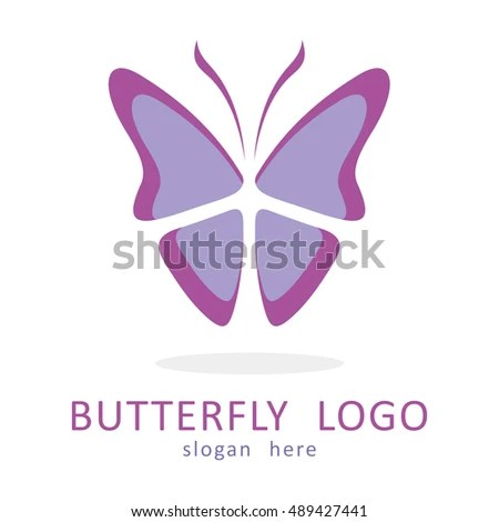 Butterfly Template Logo Icon Stock Vector 489427441 - Shutterstock - butterfly template
