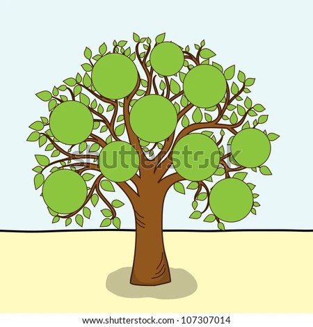 Family Tree Frames Empty Your Input Stock Vector (2018) 107307014