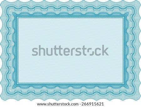 Voucher Gift Certificate Coupon Template Border Stock Photo (Photo