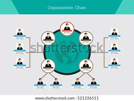 Organization Chart Template Stock Vector 521226511 - Shutterstock