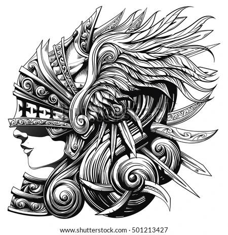 Beautiful Tattoo Girl Wallpaper Beautiful Cute Strange Lip Nosegirl Woman Stock Vector