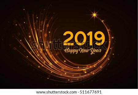 Happy New Year 2019 Vector Illustration Stock Vector 511677691