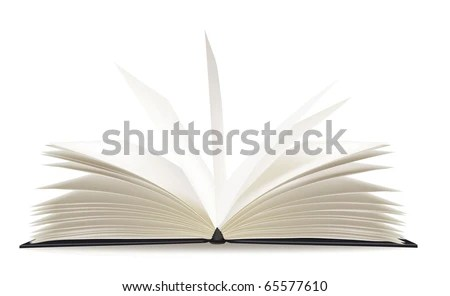 White Opened Book Blank Pages Vector Stock Vector 65577610 - opened book