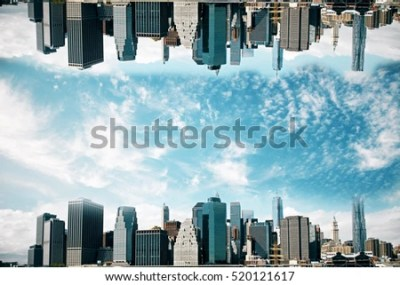 Abstract Upside Down Cityscape On Sky Stock Photo 520121617 - Shutterstock