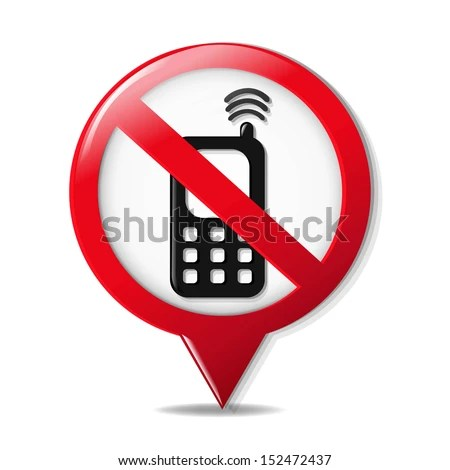 No Cell Phone Sign Gradient Mesh Stock Vector 152472437 - Shutterstock