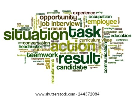 Word Cloud Related Behavioral Job Interview Stock Vector (Royalty