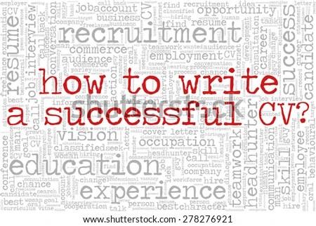 Word Cloud Related Job Interview Employment Stock Photo (Photo - cv words