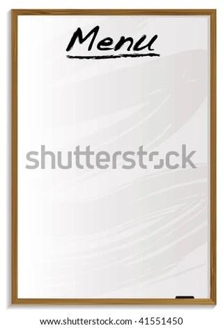 White Board Blank Menu Room Add Stock Vector 41551450 - Shutterstock