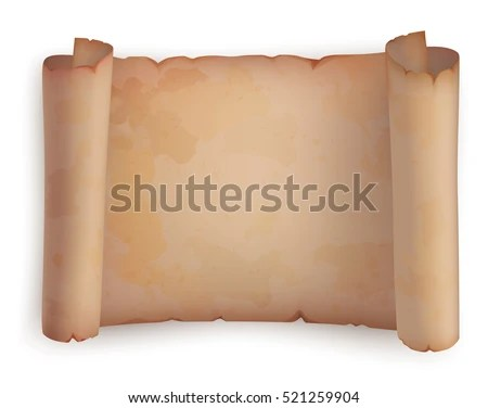 Paper Roll Horizontal Old Scroll Ancient Stock Vector (2018 - horizontal writing paper