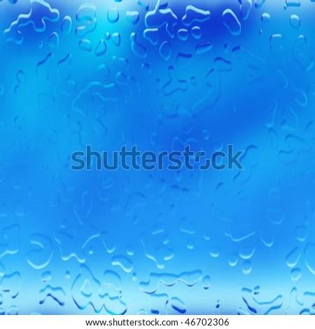 Water Droplets Raindrops Rain Drops Background Stock Illustration - water droplets background