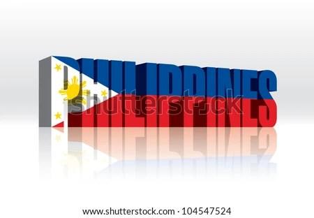 3 D Vector Philippines Word Text Flag Stock Vector (2018) 104547524 - word flag