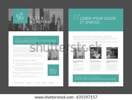 Modern Business Corporate Brochure Flyer Design Stock Vector - sample business brochure