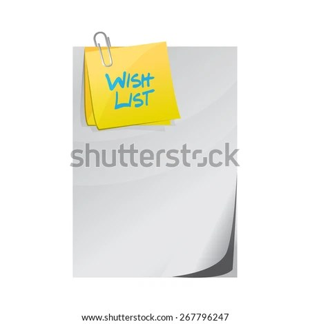 Wish List Paper Memo Post Sign Stock Illustration 267796247 - how to sign a memo