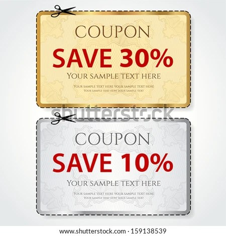 10 off discount coupon template