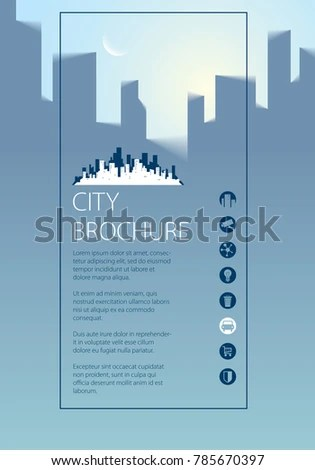 Simple City Traveling Tourist Guide Book Stock Vector 785670397 - guidebook template