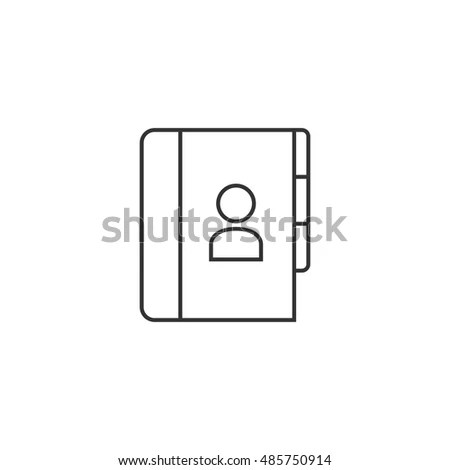 Address Book Icon Thin Outline Style Stock Vector 485750914 - family address book