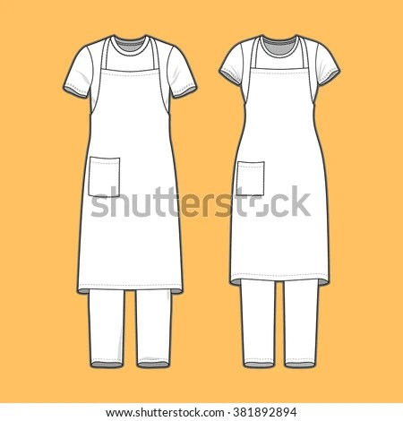 Front View Mens Womens Clothing Set Stock Vector (Royalty Free