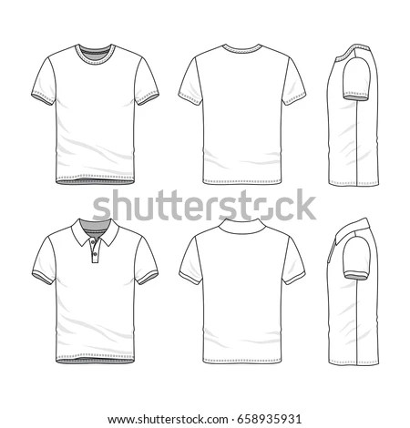 Clothing Set Blank Vector Templates White Stock Vector (Royalty Free - blank fashion design templates