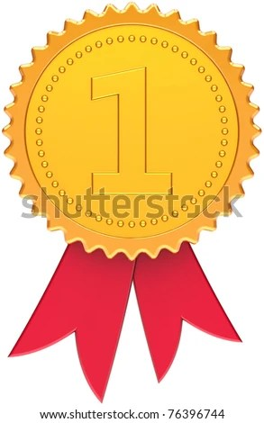 Award Ribbon Golden First Place Winner Stock Illustration 77091532 - first place award template