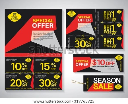 Sale Flyer Promotions Coupon Banner Design Stock Vector 329640926 - coupon flyer
