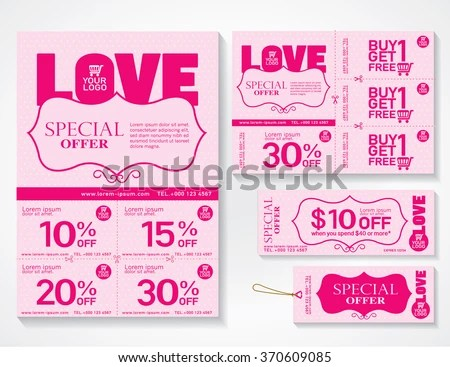 Sale Flyer Promotions Coupon Banner Design Stock Vector 517097083 - coupon flyer