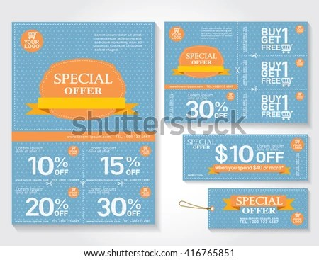 Sale Flyer Promotions Coupon Banner Design Stock Vector 416765851