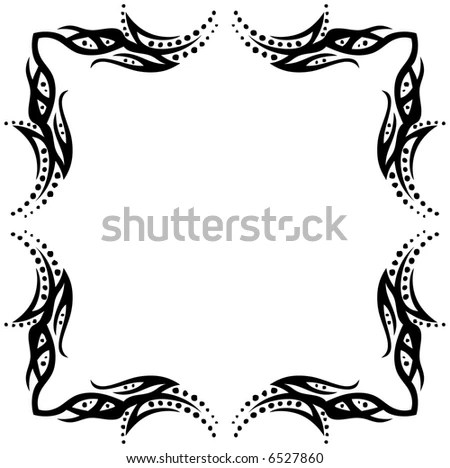 Abstract Tattoo Element Design Vector Format Stock Vector HD