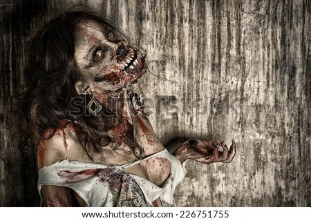 Steampung Girl Holding Skull Wallpaper Zombie Girl Stock Images Royalty Free Images Amp Vectors