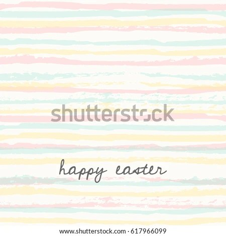 Easter Bunny Greeting Card Template Hand Stock Vector 617966018 - easter greeting card template