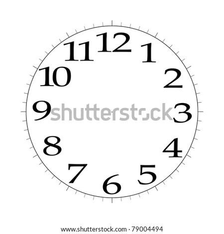 Clock Face Template 4 K Stock Illustration 79004494 - Shutterstock