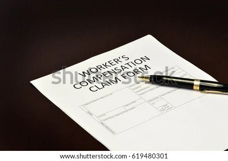 Workers Compensation Claim Form Application Pen Stock Photo  Image