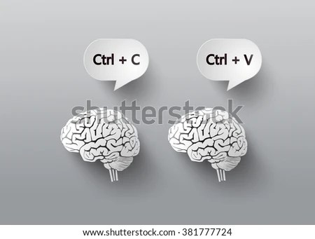Concept Brain C V Copy Pastepaper Stock Vector 381777724 - Shutterstock - cool copy and paste art