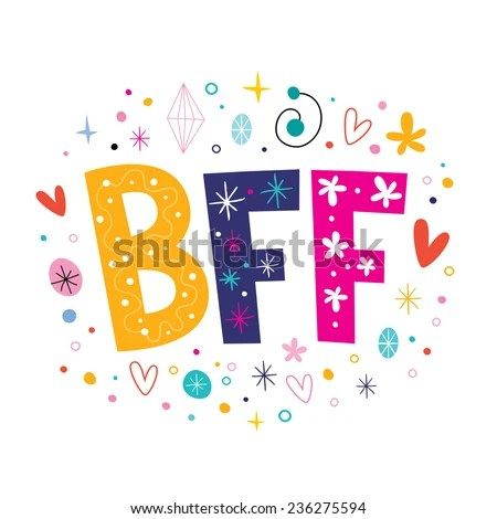 Cute Wallpapers With Bff Quote Bff Best Friends Forever Image Vectorielle 236275594