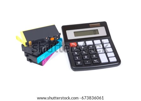 Stack Jetink Color Printer Cartridges Simple Stock Photo (Edit Now