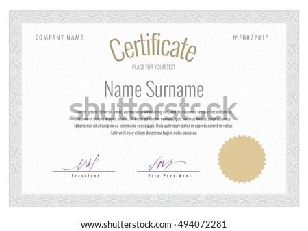 Vector illustration in rank M-rank Certificate Vector Template - certificate of rank template