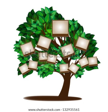 Family Tree Design Template Stock Vector 132935561 - Shutterstock