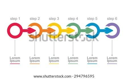 arrow flow chart template